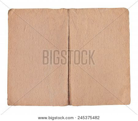 Old Book Background And Empty Pages Isolated On White