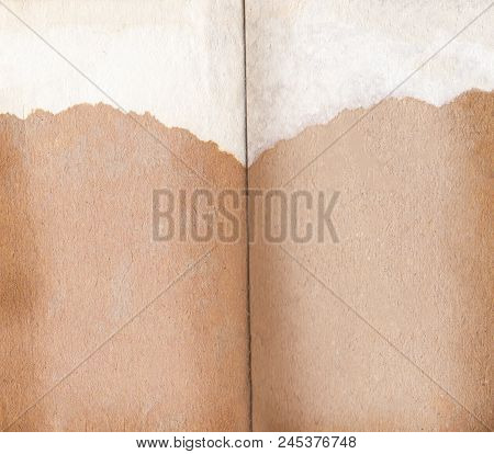 Old Book Background And Empty Pages.