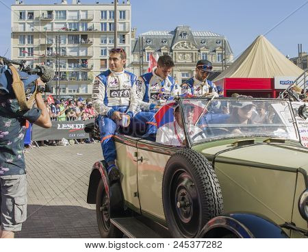 Le Mans, France - June 16, 2017: Team Of Alpine A470 - Gibson Of Signatech Alpine Matmut Driven By P