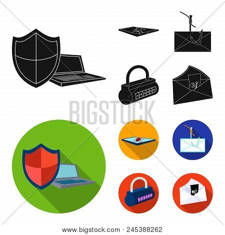Hacker, System, Connection .hackers And Hacking Set Collection Icons In Black, Flat Style Vector Sym