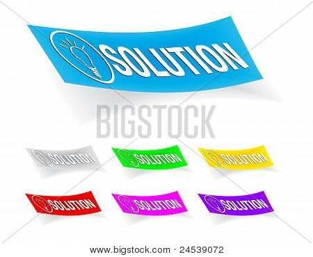 solution, stickers