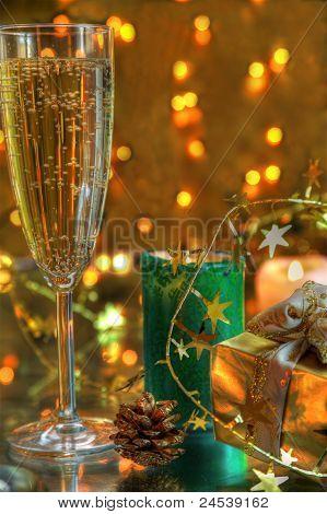 Champagne in glassess