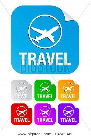 travel,square stickers
