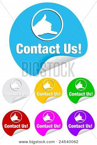 contact us, stickers