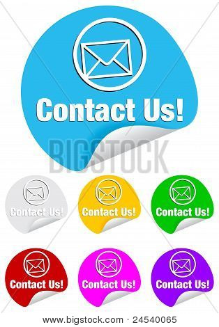contact us,round stickers