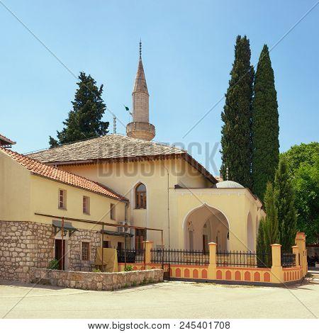 Religious Architecture.  Mosque Of  Osman Pasha. Old Town Of Trebinje City, Bosnia And Herzegovina
