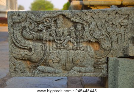 Carved Water Outlet At Temple, Was Built Circa 1112 Ce By Mahadeva, A Commander In The Army Of The W