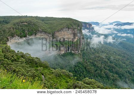 Govetts Leap Lookout. Blue Mountains In Australia.