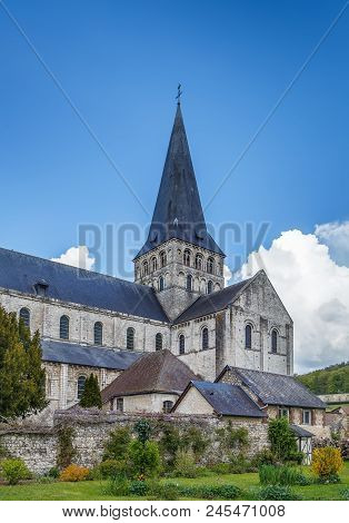 Saint-georges De Boscherville Abbey Is A Former Benedictine Abbey Located In Seine-maritime, France.