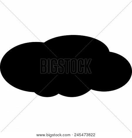 Wheather Cloud, Data Cloud, Black Cloud Icon.