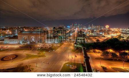 Downtown Kansas City a night