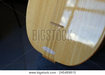 Turkish Saz Of The Musical Instrument, Man Playing Turkish Saz,