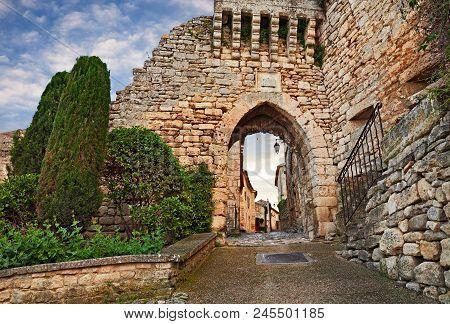 Lacoste, Vaucluse, Provence, France: The Portal De La Garde, Ancient City Gate At The Entrance To Th