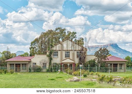 Zastron, South Africa - April 1, 2018: The Town Hall In Zastron In The Free State Province