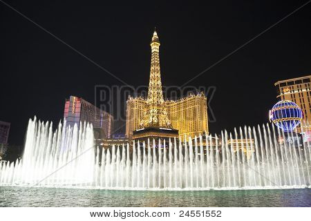 LAS VEGAS, NEVADA - OCTOBER 21:  Caesars Palace, Bellagio and Paris resorts on the strip. Vegas has 147,611 hotel rooms with a average daily rate of $106 on October 21, 2011 in Las Vegas, Nevada.