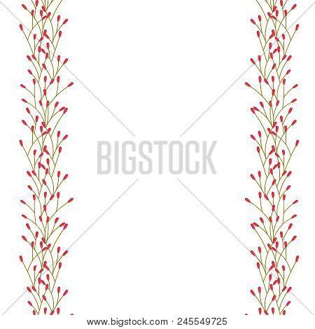 Vector Floral Border. Floral Frame.  Floral Decoration.