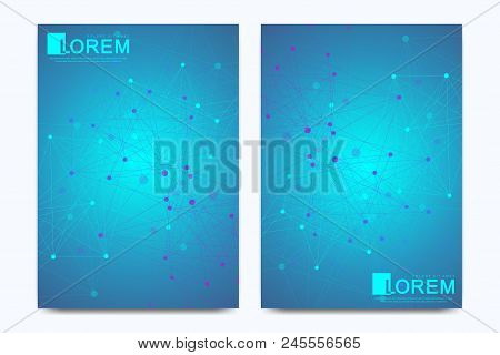 Modern Vector Template For Brochure Leaflet Flyer Advert Cover Banner Magazine Or Annual Report A4.