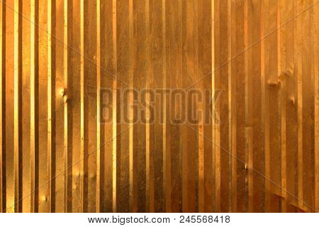 Dark Old Gold Wall, Uneven Surface For The Background.