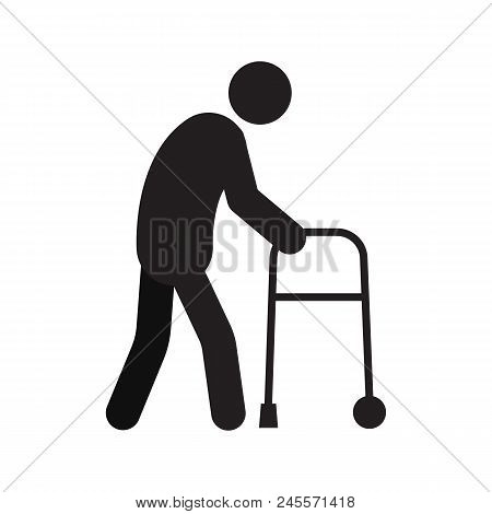 Old Man Going Walker Vector & Photo (Free Trial) | Bigstock