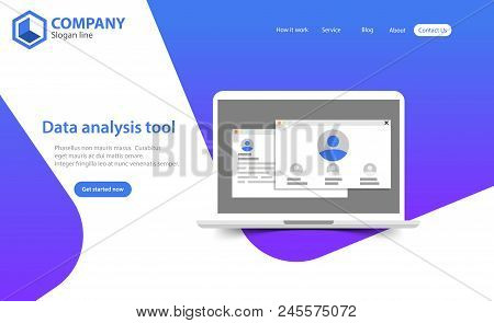 New Trendy Website Landing Page Vector Theme Template Design