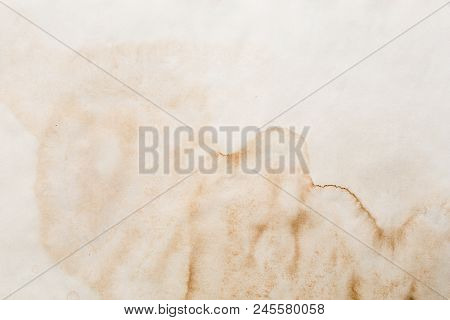 Texture Of Old Paper, Aged Paper With Stains And Creases, Grunge For Background Creation, Vintage