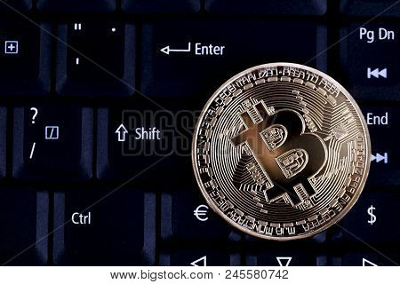 Bitcoin On Keyboard, Bitcoin Is Electronic Currency Internet Finance