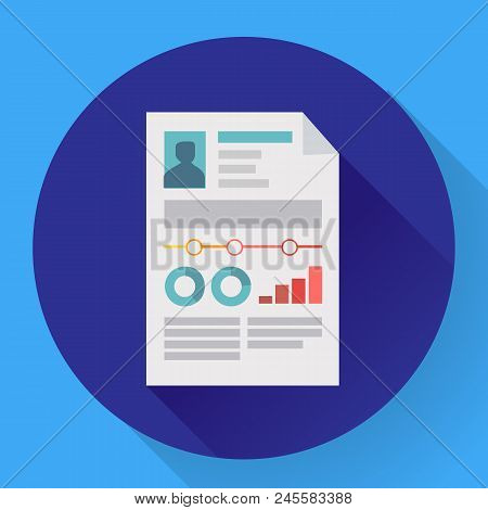 Resume Icon Cv Icon Flat. Business Concept Cv Resume.