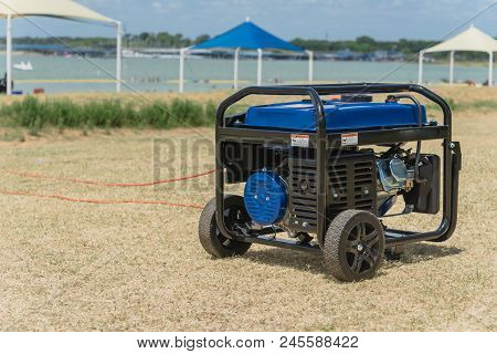 Portable Gasoline Power Generator And High Peak Frame Tent