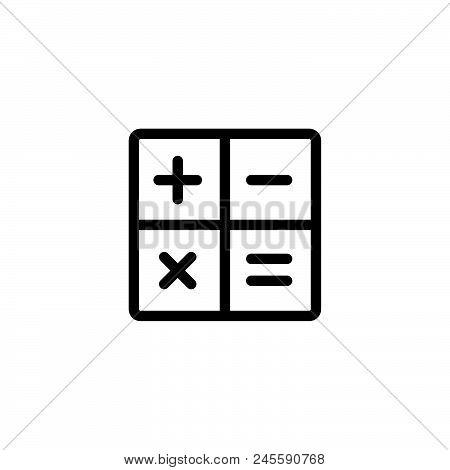 Calculator Vector Icon On White Background. Calculator Modern Icon For Graphic And Web Design. Calcu