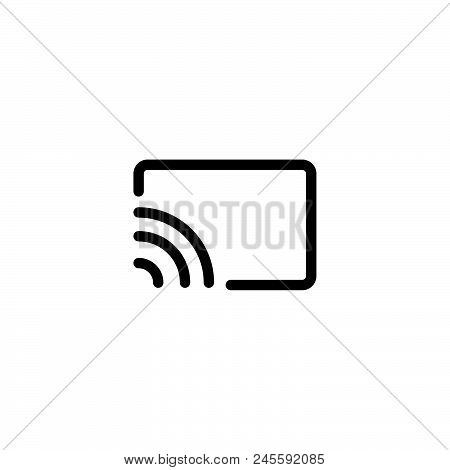 Screen Cast Vector Icon On White Background. Screen Cast Modern Icon For Graphic And Web Design. Scr