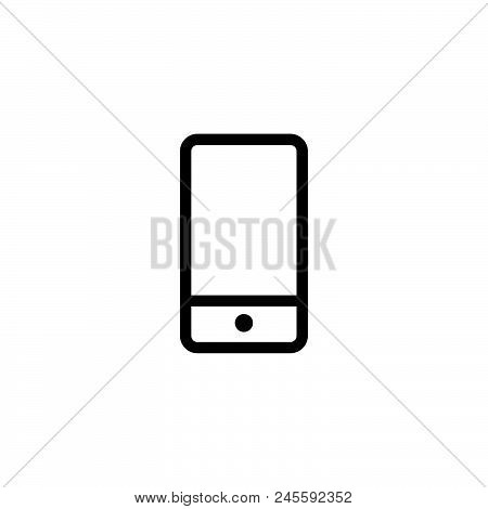 Mobile Phone Vector Icon On White Background. Mobile Phone Modern Icon For Graphic And Web Design. M