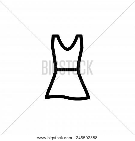 Woman Dress Vector Icon On White Background. Woman Dress Modern Icon For Graphic And Web Design. Wom