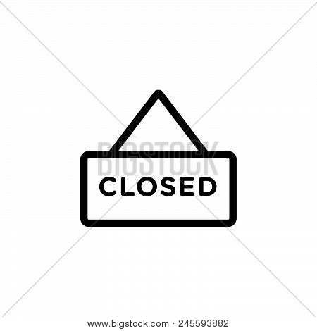Business Closed Vector Icon On White Background. Business Closed Modern Icon For Graphic And Web Des