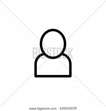 Account Vector Icon On White Background. Account Modern Icon For Graphic And Web Design. Account Ico