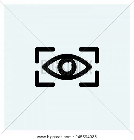 Eye Scan Icon Vector Icon On White Background. Eye Scan Icon Modern Icon For Graphic And Web Design.