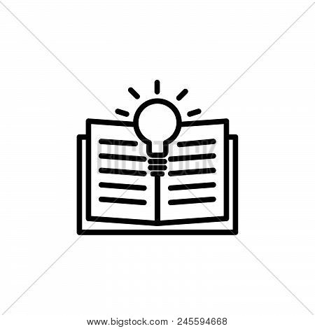 Learning Vector Icon On White Background. Learning Modern Icon For Graphic And Web Design. Learning