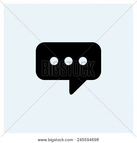 Speech Bubble Icon Vector Icon On White Background. Speech Bubble Icon Modern Icon For Graphic And W