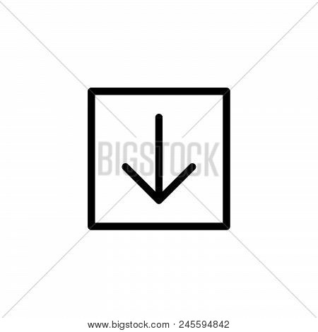 Download Down Arrow Vector Icon On White Background. Download Down Arrow Modern Icon For Graphic And