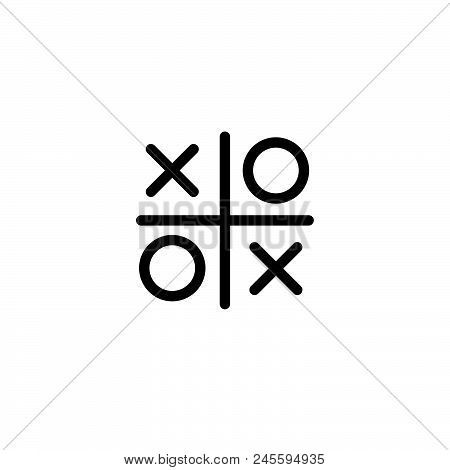 Tic Tac Toe Vector Icon On White Background. Tic Tac Toe Modern Icon For Graphic And Web Design. Tic