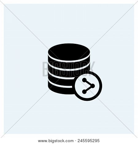Share Database Icon Vector Icon On White Background. Share Database Icon Modern Icon For Graphic And