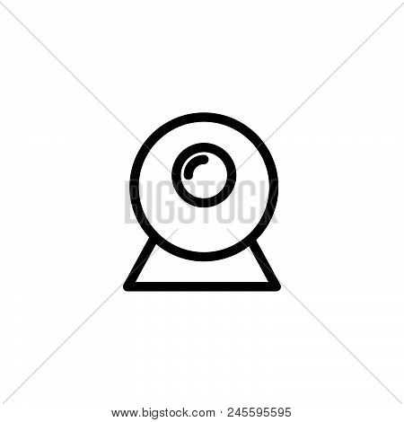 Web Cam Vector Icon On White Background. Web Cam Modern Icon For Graphic And Web Design. Web Cam Ico