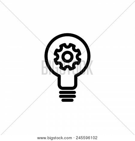 Creative Idea Vector Icon On White Background. Creative Idea Modern Icon For Graphic And Web Design.