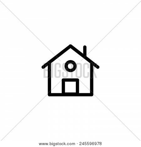 House Vector Icon On White Background. House Modern Icon For Graphic And Web Design. House Icon Sign