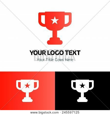 Award Logo Template Vector Icon On White Background. Award Logo Template Modern Icon For Graphic And