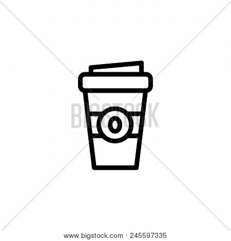 Coffee Take Away Vector Icon On White Background. Coffee Take Away Modern Icon For Graphic And Web D