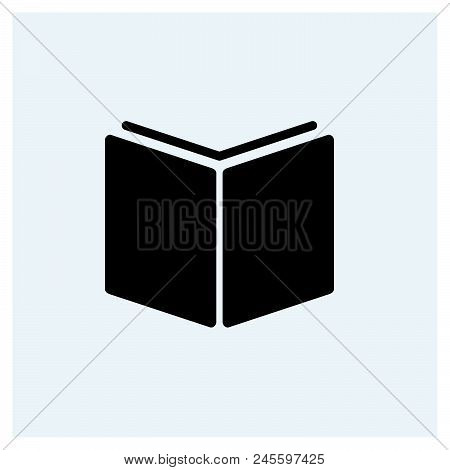 Open Book Icon Vector Icon On White Background. Open Book Icon Modern Icon For Graphic And Web Desig