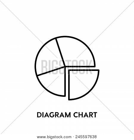 Diagram Chart Vector Icon On White Background. Diagram Chart Modern Icon For Graphic And Web Design.