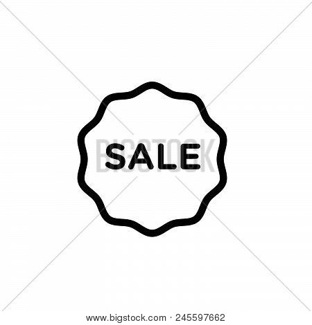 Sale Tag Vector Icon On White Background. Sale Tag Modern Icon For Graphic And Web Design. Sale Tag
