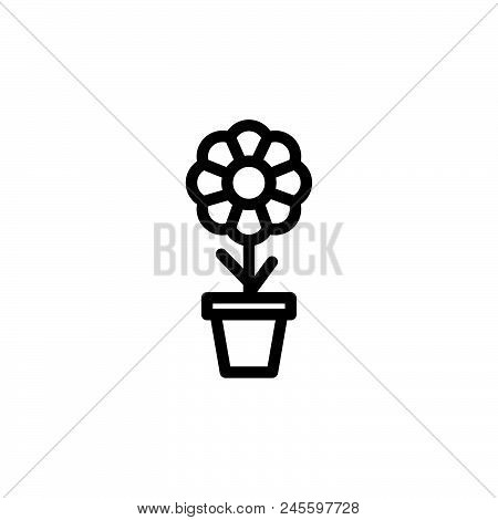 Flower Plant Vector Icon On White Background. Flower Plant Modern Icon For Graphic And Web Design. F