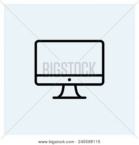 Computer Icon Vector Icon On White Background. Computer Icon Modern Icon For Graphic And Web Design.